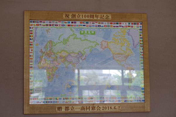 世界地図の額縁