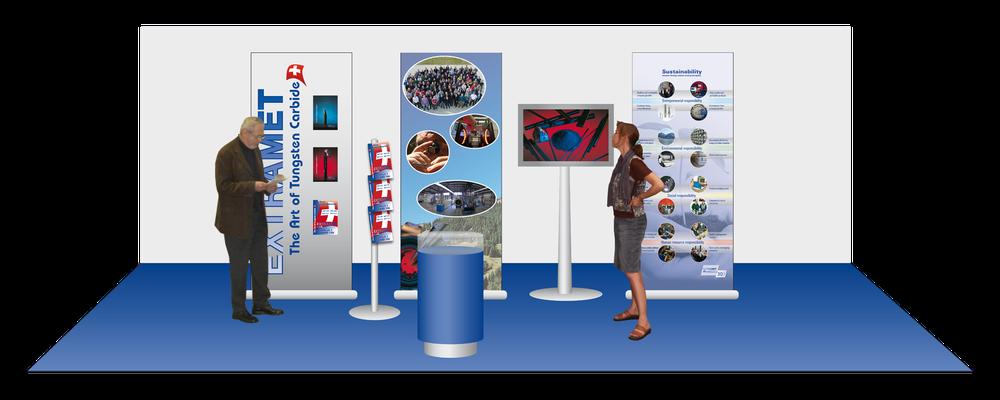 3D Paln für einen mobilen Messestand der Firma Extramet AG