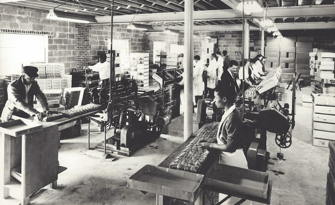Our first packing facility - a converted barn in Washington DC circa 1940