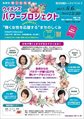 たんぽぽの会様 長岡京市輝く女性塾(2017年)