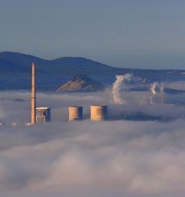 La centrale thermique de Gardante située à proximité du chantier. Une réelle menace pour les forêts de Haute Provence
