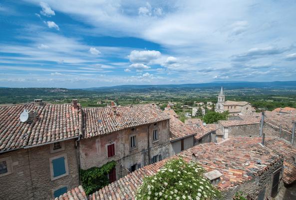 Vue des toits de Bonnieux