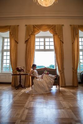 Brautfoto im Schloß