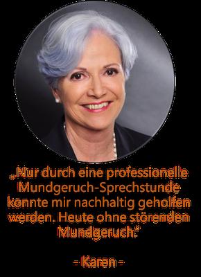 Halitosis-Patienten Karen; DIWI Köln
