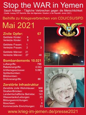 05/2021 - Jemen - tagtägliche Kriegsverbrechen der Saudi/Emirati-Kriegskoalition