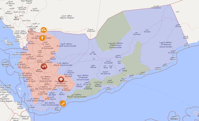 Jemen, 30.06.2020 - Livemap