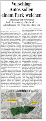 Artikel aus der Ravensburger Lokalsausgabe der Schwäbischen Zeitung vom 27.11. 2019 von Günther Peitz