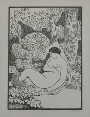 Migonney, Nu endormi dans un paysage, vers 1913, 40 ex.