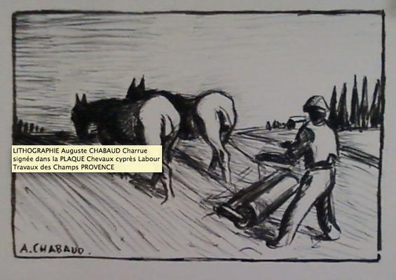 Chabaud, le labour de dos, litho, non numérotée, tirage posthume ?