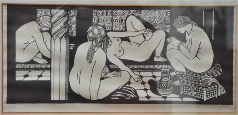 Mignonne, Les bains turcs, 1913, 20,5x47
