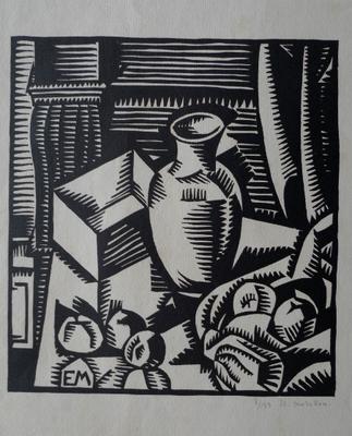 Morillon, nature morte à la cruche, bois, 133 ex.