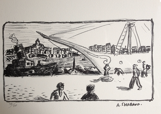 Chabaud, le port de Marseille, 180x310, 130 ex., tirage posthume.