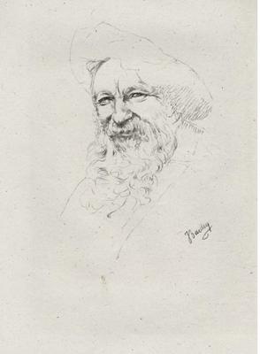 Bardey, vieillard, pointe-sèche, vers 1913