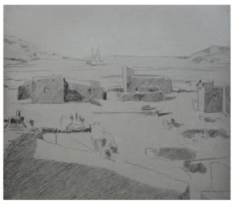 Bardey, Délos, pointe-sèche, in Sous l'olivier de Herriot, 1932