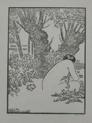 Migonney, nu au bord de la rivière, vers 1913, 40 ex., 46x32,5