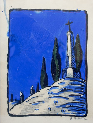 Chabaud, le calvaire, lithographie, 240x180, 100 ex.