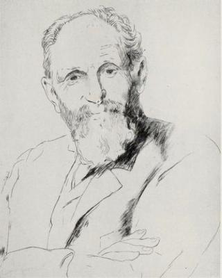 Bardey, portrait de M…, pointe-sèche.