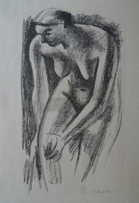 Morillon, nu, lithographie. sur 50 ex.