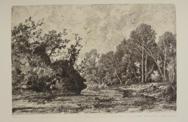 Saint-Etienne, En forêt, 105x121