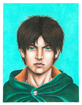 Eren, crayons de couleur, A3, 2021