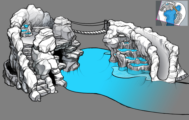 Pool redesign concept (perspective rendering 1/3)
