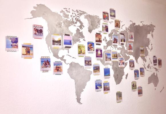 Wandtattoo Weltkarte von wall-art