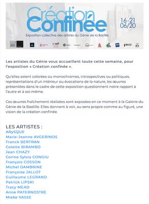 http://www.legeniedelabastille.com/exposition/creation-confinee-exposition-collective-artistes-genie/