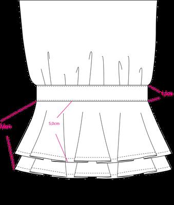 Detailzeichnung Volantärmel
