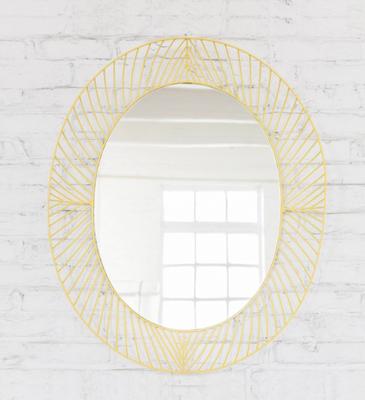 Miroir oval jaune acidulé par Colonel.
