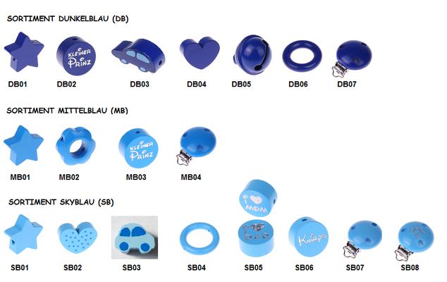 Sortiment blau