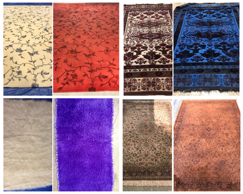 Examples of Rug Overdyeing