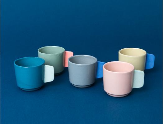 Abwarten und Espresso trinken: Handgegossene Cups von «Studio Sediment».