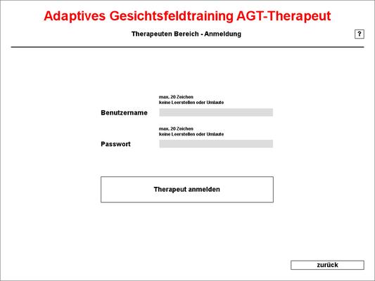 Anmeldung Therapeut