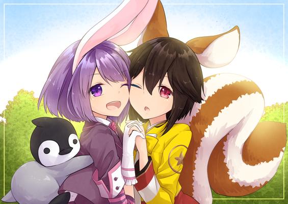 ウサギとリスちゃん(仕事絵)