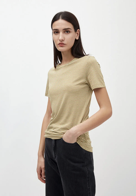 T-Shirt aus TENCEL™ Lyocell Mix golden khaki-pistachio – €39,90