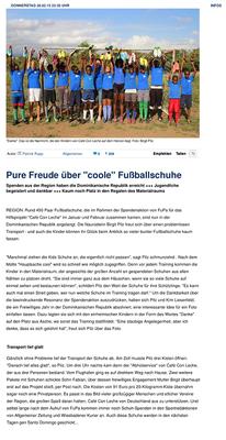 """""""Pure Freude über """"coole"""" Fußballschuhe"""" - fupa.net - Februar 2015"""