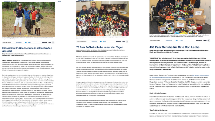 """Hilfsaktion: Fußballschuhe..."" - fupa.net - Januar 2015"