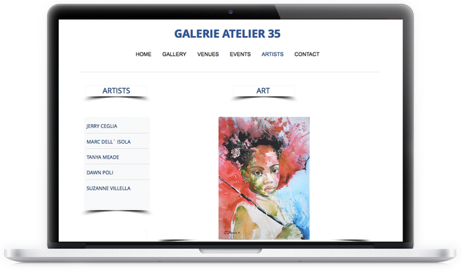 """Von der """"GalerieAtelier35"""" wurden wir um Beratung gebeten und beauftragt ein neues Design umzusetzen."""