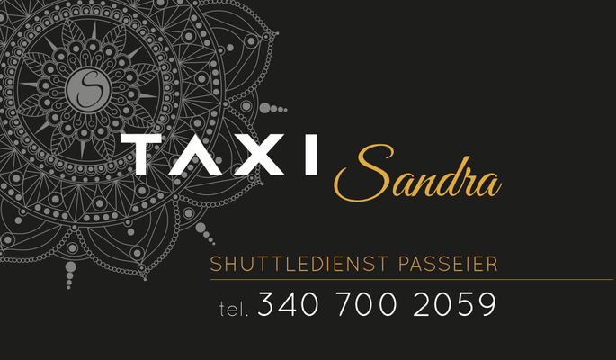 """Logo Design + Visitenkarten + Auto Beschriftung """"Taxi Sandra"""""""