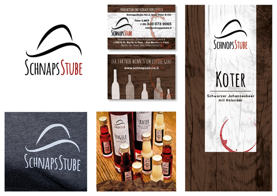 "Logo Design + Corporate Design ""Schnaps Stube"""