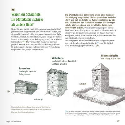 """Buchillustration für """"Die Schildhöfe in Passeier"""" (Schrift und Layout: design.buero) _Tusche Zeichnung"""
