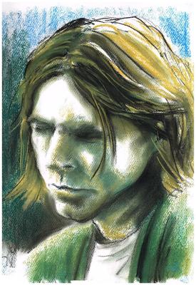 """Portrait """"Kurt Cobain"""" _Kreide auf Papier"""