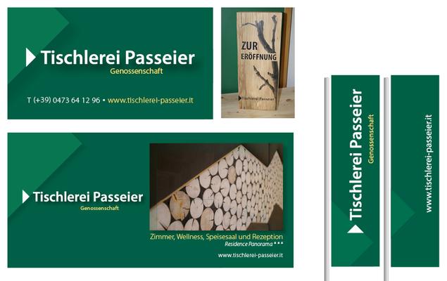 """Logo redesign + Corporate Design + Webdesign """"Tischlerei Genossenschaft Passeier"""""""