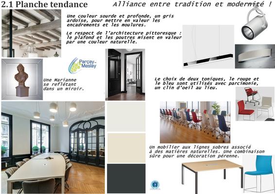 planche tendance salle de réunion tour de portes anthracite, Azay sur Cher 37,   Isabelle Mourcely, décoratrice UFDI à Tours 37000 et Chinon 37500.