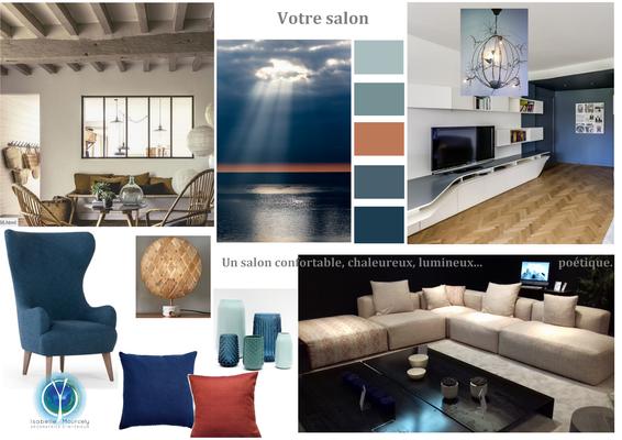 planche tendance salon, style charme avec une note contemporaine, 37190 NEUIL, Isabelle Mourcely décoratrice UFDI Tours 37000 et Chinon 37500