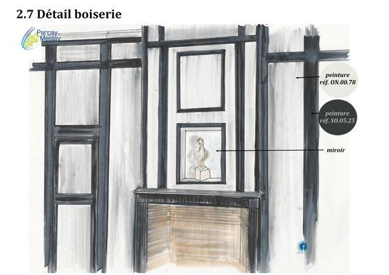 Détails boiseries, Azay sur Cher 37,   Isabelle Mourcely, décoratrice UFDI à Tours 37000 et Chinon 37500.