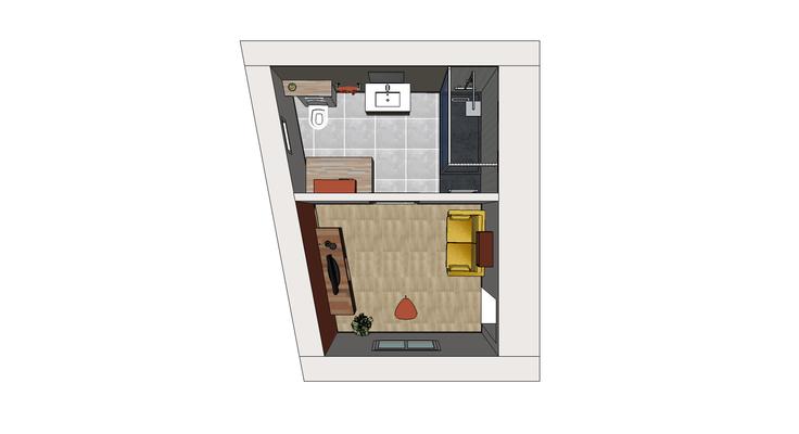 Salle de bains 3D Etude n°1;Chinon; Centre Val de Loire, Indre et Loire 37, Isabelle Mourcely Décoratrice d'intérieur UFDI Tours-Chinon 37