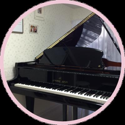 グランドピアノと防音室