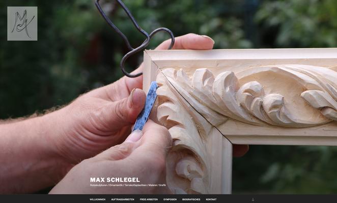 Webseite / Max Schlegel Holzbildhauer