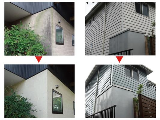 10年に一度の塗り替えが目安です。 外壁・屋根は勿論、雨どいやベランダ鉄部の劣化も老朽化による塗り替えチェックのポイントです。